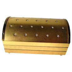 Brass Jewelry Box With Rhinestone Accents - Great for Storing Costume Jewelry - Princess Jewelry Box - Vintage Jewellery