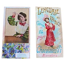Chocolate Shop Trade Cards from Spain, 1890