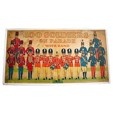 Complete set of 100 Soldiers On Parade, Milton Bradley Co./1905-1925