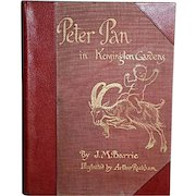 Peter Pan in Kensington Gardens, J.M. Barrie, Illustrated by Arthur Rackham, Publ: Hodder & Stoughton, London, England, 1906 First Edition