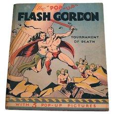 "The ""Pop-Up"" Flash Gordon Tournament of Death, Alex Raymond, Pleasure Books, Inc. 1935"