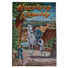 Hopalong Cassidy punch-out book by Whitman Publishing Co., 1951