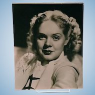 Alice Faye vintage black & white signed and inscribed photograph