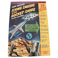 Capt. Quick's flying Saucers And Rocket Ships punch-out book, 1950's, Complete and intact