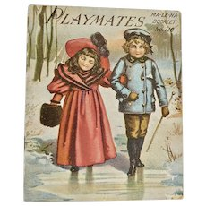 Playmates MA-LE-NA Booklet No. 110, ca: 1890 - Red Tag Sale Item