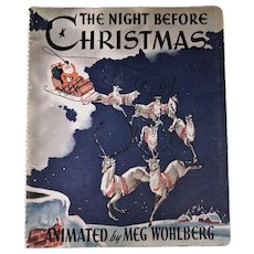 The Night Before Christmas, Clement C. Moore, 1944, 1st Edition mechanical book.