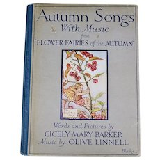 Autumn Songs With Music, 1929, First Edition