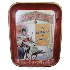 Gin Seng vintage serving tray