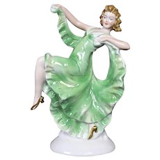 Art Deco Working Porcelain Perfume Lamp