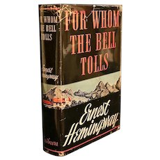 For Whom The Bell Tolls/ 1st Edition/ Signed by author