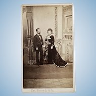 Colonel Steve and Wife CDV
