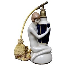 Royal Dux Art Deco Figural Perfume Bottle