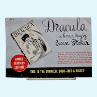 Dracula/Armed Services Edition Book