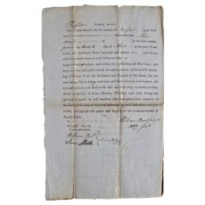 "Wm. Bradford ""County, to Witt"" document, 1791"