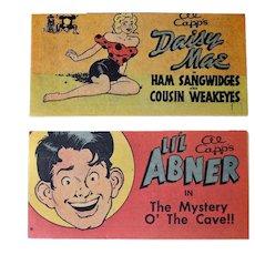 Li'l Abner & Daisy Mae Ivory Soap Premium Comics