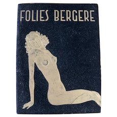 Folies Bergere program magazine, 1950's