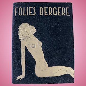 Folies Bergere program magazine, 1950's