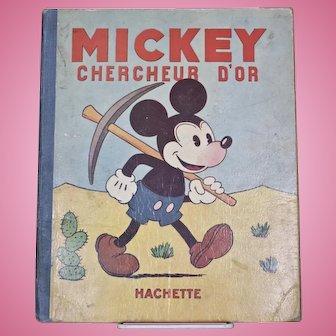 Walt Disney's Mickey Chercheur D'or (Gold Prospector)