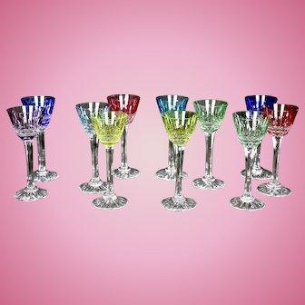 11 Mixed Color Cristallerie's, Lorraine, France