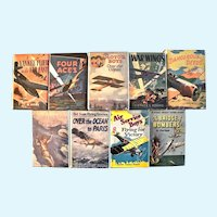 Nine Vintage Children's Aviation Adventure Series Books