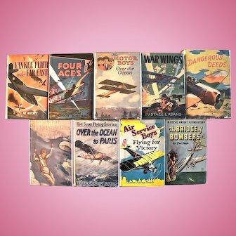 Nine Vintage Children's Aviation Adventure Series Books