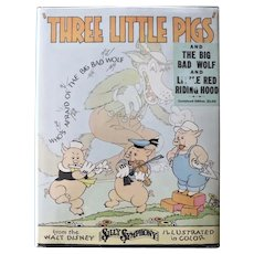 The Three Little Pigs and The Big Bad Wolf And Little Red Riding Hood (Walt Disney,1934/1st Ed./Taken from Silly Symphonies stories/Publ: Blue Ribbon Books, Chicago, IL)
