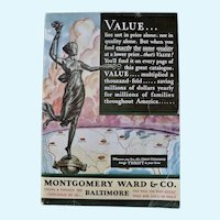 1931 Montgomery Ward & Co. catalogue original catalogue for its' Baltimore, MD Stores