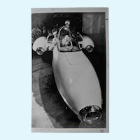 Photo grouping early 1950's original vintage automobile and racing black and white photograph's