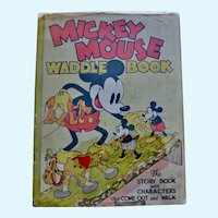 Mickey Mouse Waddle Book (without the waddles), 1934, Original dust jacket