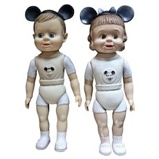 Pair boy and girl 1950's Mousketeer's
