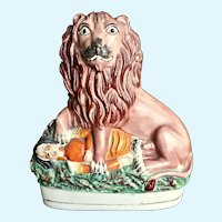 Staffordshire Lion and Napoleon the Third, c: 1860