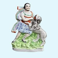Staffordshire Sampson Wrestling the Lion, c: 1860