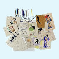 14 Dance Cards from the 1930's--Incredible item