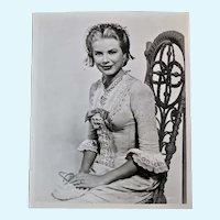 Vintage Grace Kelly Black and White Portrait Photograph