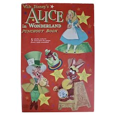 Walt Disney's Alice in Wonderland Punchout Book, 1951