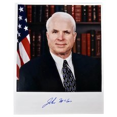 Senator John McCain signed photograph and signed letter