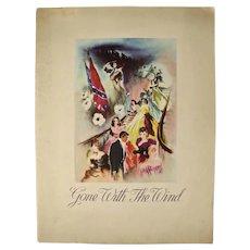 Gone With The Wind Premiere Souvenir Program, 1st ed., (1939)