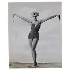 Original Vintage Marilyn Monroe Black and White Portrait Photograph