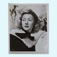 Gloria Grahame Vintage Black and White Studio Portrait Photograph