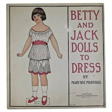Betty and Jack Dolls To Dress paper doll book
