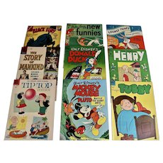 Nine Vintage Comic Books, 1950's and one 1964