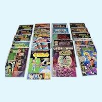 Comic Books, twenty-one different comics