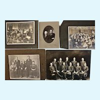 Five (5) Antique Black and White Photographs various sizes