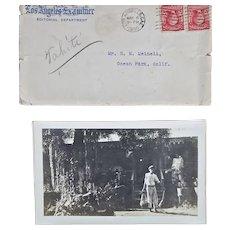 Eight (8) B & W photographs of Tahitian scenes, 1906