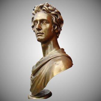 Important Historic Massive Bronze Portrait Bust Rome 1823 By Thomas Campbell And Cast By Louis Claude Ferdinand Soyer Paris 1824