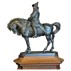 Monumental Maquette Bronze King Karl X Gustav On Magnificent Horse Sweden J. Borjeson 1895