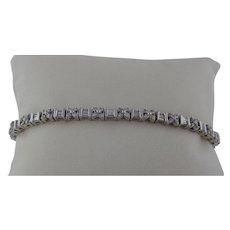 Flower Diamond Bracelet In 14 Karat Gold