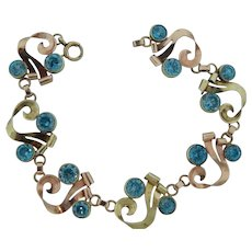 1940's Blue Zircon Bracelet
