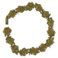Nature Inspired Carved Leaf Bracelet
