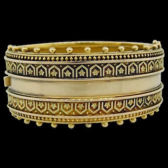 Etruscan Revival Cuff Bracelet